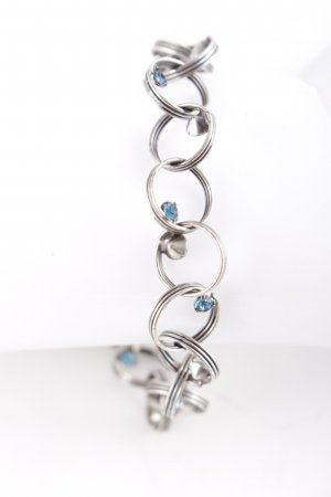 Konplott Armband silberfarben-kornblumenblau Elegant