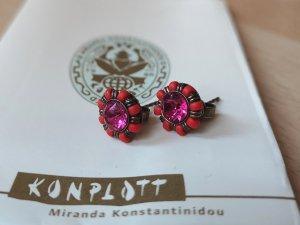 Konplott Zarcillo rojo-rosa