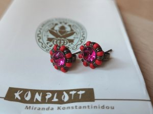 Konplott by Miranda Ko Ohrstecker rot-pink neu!