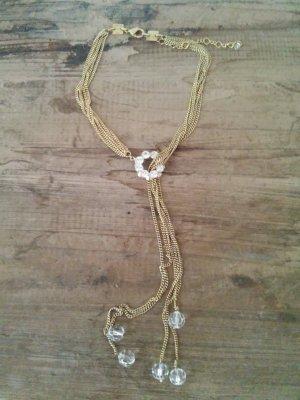 Konplott Collier in gold mit Swarovskis