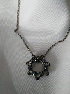 Konplott Necklace black-silver-colored