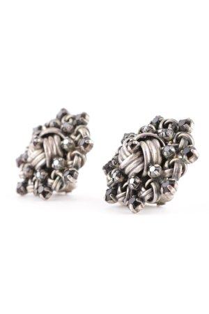 Konplott Pendientes de clip color plata elegante