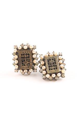 Konplott Pendientes de clip color bronce elegante
