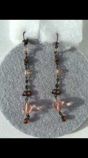 Konplott Ohrringe rosa/beige/braun hängend
