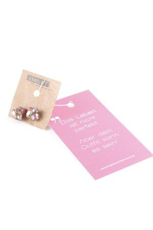 Konplott Zarcillo rojo claro-rosa estilo romántico