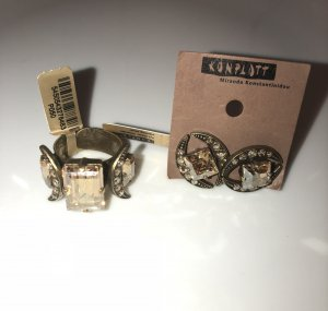 Konplott Ohrstecker Ring Set