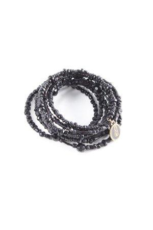 Konplott Brazalete de perlas negro elegante