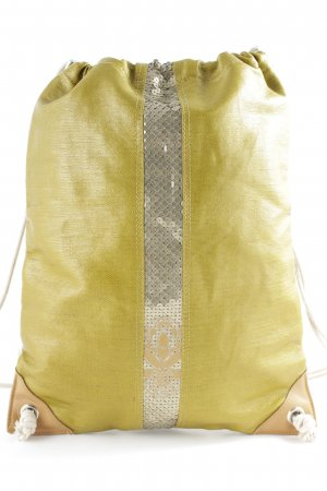 Konplott School Backpack olive green-gold-colored Boho look