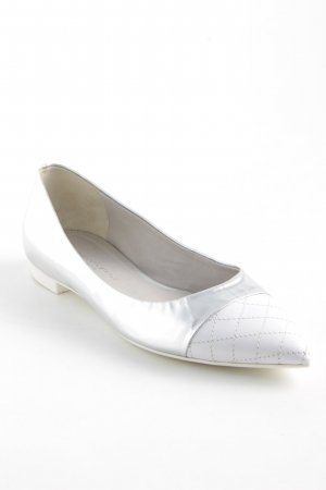 Konstantin Starke Patent Leather Ballerinas silver-colored-white check pattern