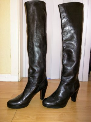 Konstantin Starke Platform Boots black leather