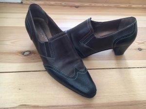 Konstantin Starke Zapatos estilo Oxford negro-marrón