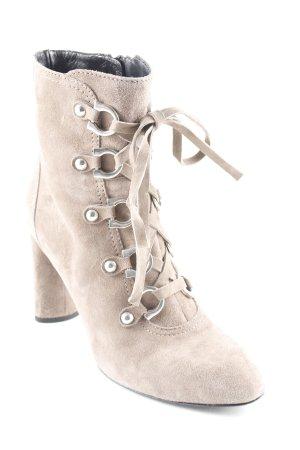 Konstantin Starke Reißverschluss-Stiefeletten graubraun extravaganter Stil