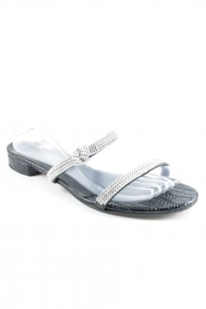 Konstantin Starke Strapped High-Heeled Sandals silver-colored-black elegant