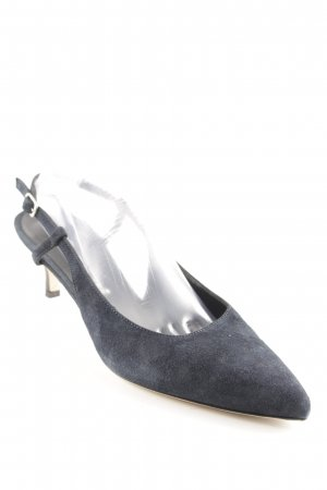 Konstantin Starke Slingback-Pumps blau Business-Look