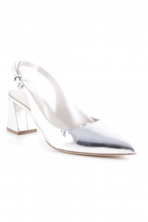 Konstantin Starke Slingback-Pumps silberfarben Metallic-Optik