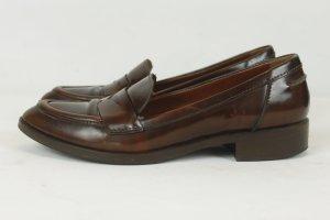 Konstantin Starke Slipper Loafer Flats Gr. 39 braun Leder