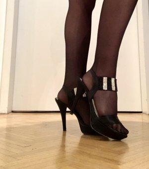 Konstantin Starke High Heel Sandal black-silver-colored