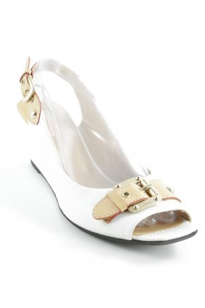 Konstantin Starke T-Strap Sandals white-sand brown casual look