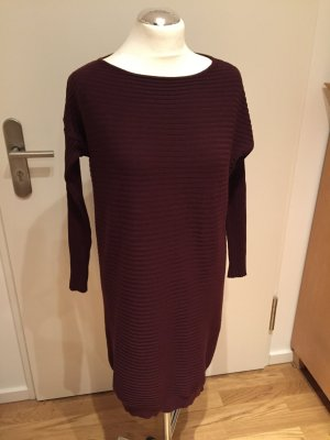 Kontatto: Dunkelroter Long Strickpullover nur 2x getragen, neuwertig