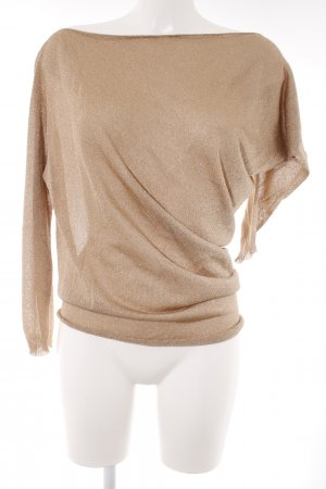 Kontatto Longpullover goldfarben Casual-Look