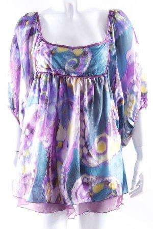 Kontatto Seiden-Tunika mit floralem Print