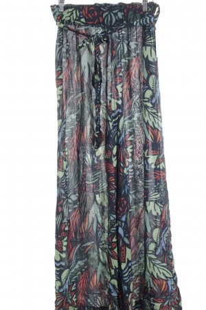 Kontatto Stoffhose florales Muster Beach-Look