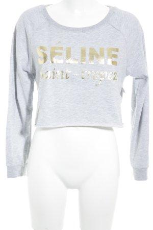 Kontatto Sweatshirt grau Schriftzug gedruckt Street-Fashion-Look