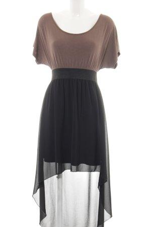 Kontatto Vokuhila-Kleid schwarz-braun Street-Fashion-Look