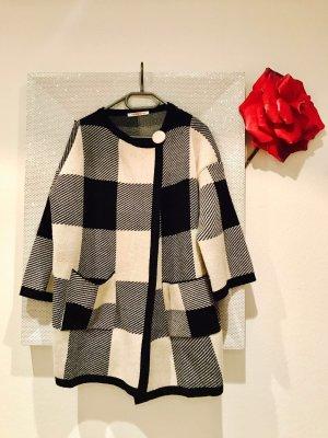 Kontatto Giacca di lana nero-bianco sporco