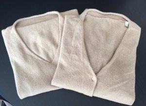 Max Mara Twin set in maglia color cammello Lana