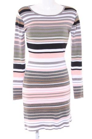 KOOI Knitwear Gebreide jurk gestreept patroon simpele stijl