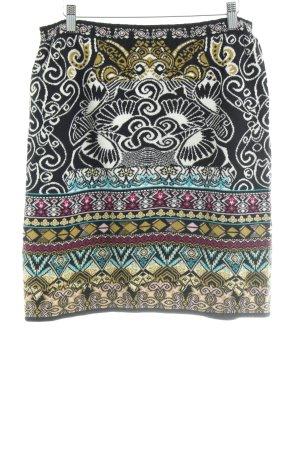 KOOI Knitwear Jupe tricotée noir-jaune citron vert motif abstrait