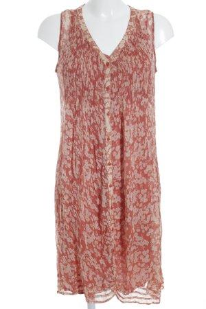 Kookai A-Linien Kleid nude-rostrot Blumenmuster Romantik-Look