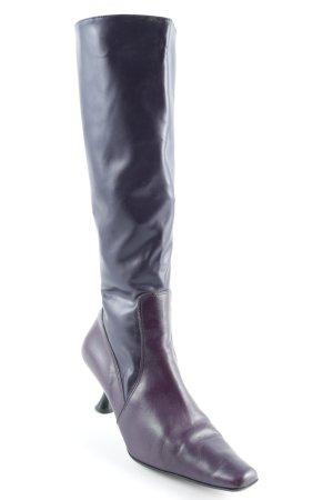 Kookai Absatz Stiefel dunkelviolett Lack-Optik