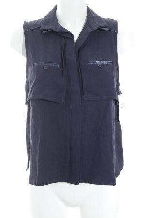 Kookai ärmellose Bluse dunkelblau Casual-Look
