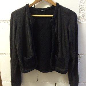 Kookai Blazer Strickjacke schwarz grau 36 1