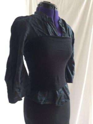 Kookai Bluse mit Bustier-Optik - schwarz und blau