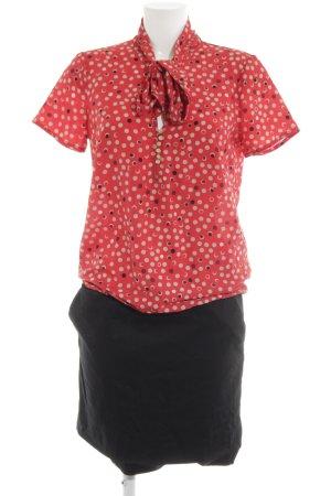 Kookai Blusenkleid Punktemuster Business-Look