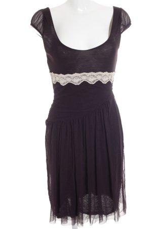 Kookai Chiffonkleid dunkelviolett-grauviolett 60ies-Stil
