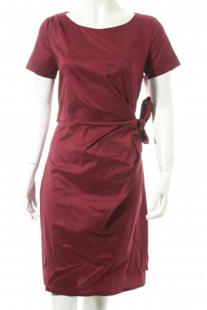 Kookai Cocktailkleid bordeauxrot Wickel-Look