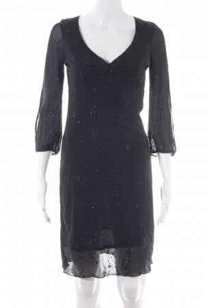 Kookai Empirejurk zwart abstract patroon glitter-achtig