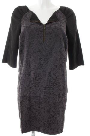 Kookai Etuikleid schwarz-graublau klassischer Stil