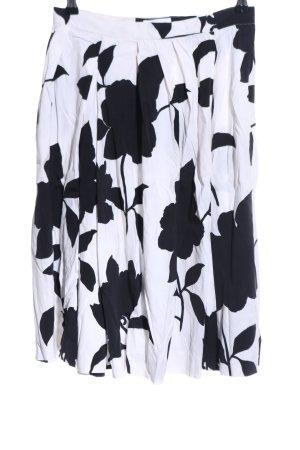 Kookai Gonna a pieghe bianco-nero motivo floreale stile casual