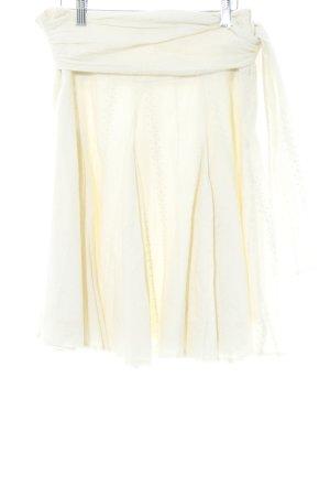 Kookai Plaid Skirt cream floral pattern romantic style