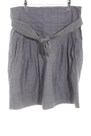 Kookai Faltenrock graublau meliert schlichter Stil