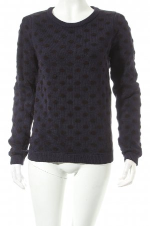 Kookai Häkelpullover dunkelblau-schwarz Punktemuster Street-Fashion-Look