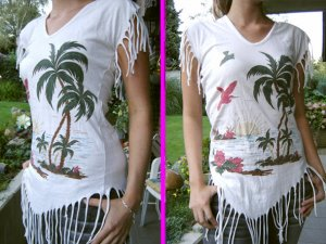 kookai ++ hochwertiges Fransenshirt + only Beachtop Replay Tshirt coachella