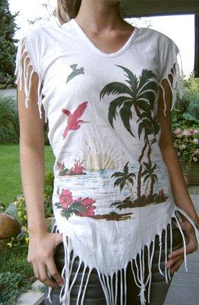 kookai ++ hochwertiges Fransenshirt ++ only Beachtop top Ibiza Hippie Tshirt coachella