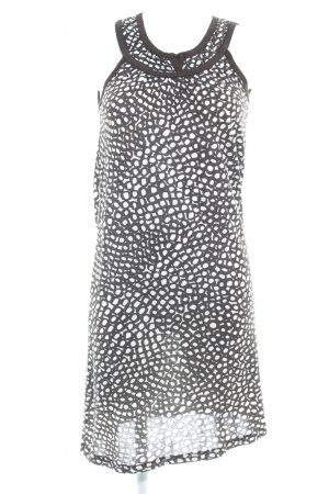 Kookai Jerseykleid graubraun-weiß Punktemuster Casual-Look
