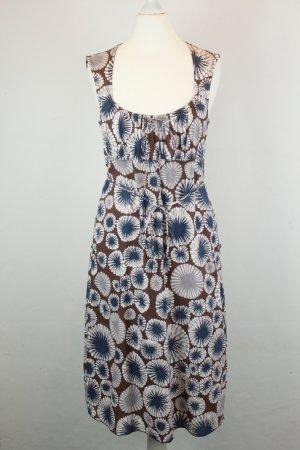 Kookai Kleid Bustierkleid Gr.  frz. 38 / dt. 36 braun blau Blumen
